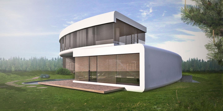 <strong>Kruhový rodinný dom </strong></br> - Architektonická štúdia
