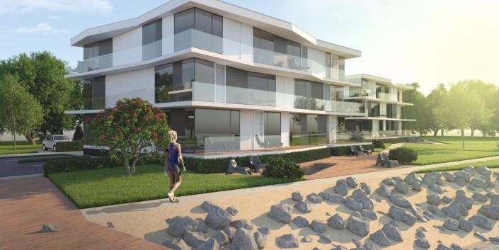 Bytové domy Čunovo, Slovensko- Architektonická štúdia