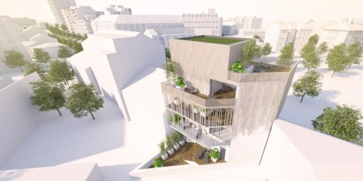 Rekonštrukcia bytového domu - Šancová-Overovacia a architektonická štúdia