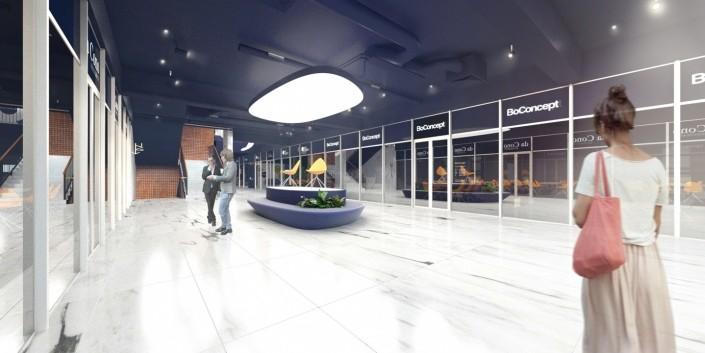 Lightpark - interiér obchodného domu
