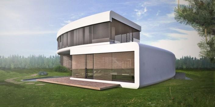 Kruhový rodinný dom  - Architektonická štúdia