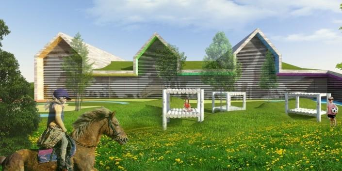 Materská škola - Architektonická štúdia - súťaž