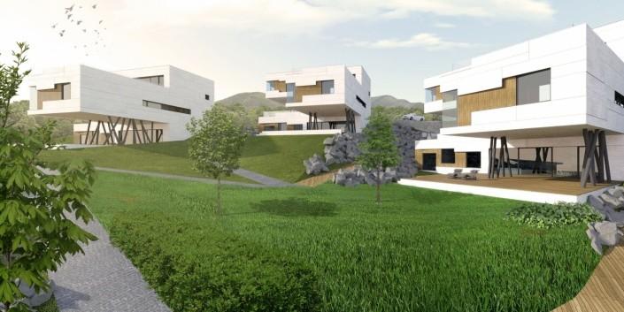 Obytný súbor - Uptown Koliba- Architektonicko-urbanistická štúdia