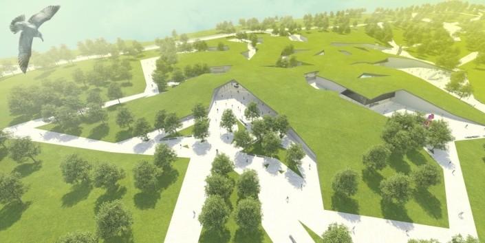 Ostrov Kaunas - Litva - Architektonická štúdia
