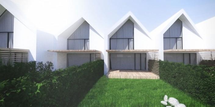 Radové rodinné domy Hainburg - Architektonická štúdia