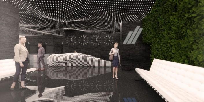 Tatra banka Lobby - Architektonická štúdia